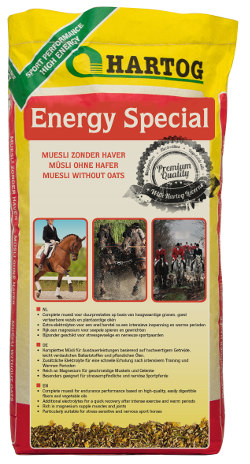 muesli Hartog Energy Special horsefeed without oats for sporthorses