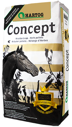 horsefeed Hartog concept pure pellets with herbs for allround feeding